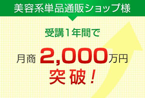 美容系単品通販ショップ様|月商2,000万円突破!