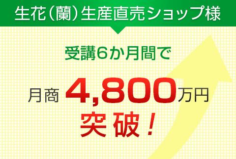 生花(蘭)生産直売ショップ様|月商4,800万円突破!