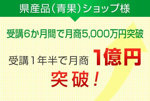 県産品(青果)ショップ様|月商1億円突破!