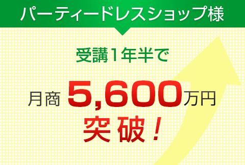 パーティードレスショップ様|月商5,600万円突破!